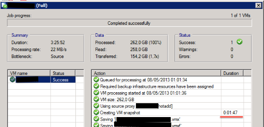 VMware Tools snashot takes some time