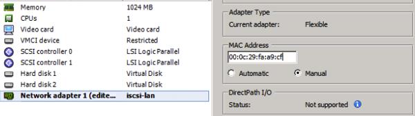 FOM with static MAC address