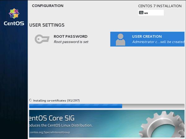 Centos7 install users